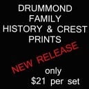 Printed History & Crest - Drummond Clan